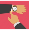 Businessman checking time vector image