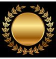 Gold laurels on black vector image