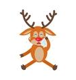 Deer Wipes Tears Cartoon Flat vector image