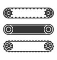 conveyor belt line set on white background vector image