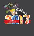 2017 colorful geometric badge vector image