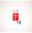 Present with computer arrow christmas and holiday vector image vector image