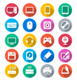 Computer flat color icons vector image