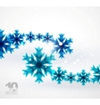 blue snowflake abstract background vector image vector image