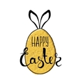 Handmade background with Easter eggs and hiding vector image