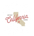 California dreaming t-shirt graphics vector image