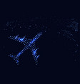 an abstract plane in the night sky vector image