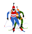 biathlon race vector image