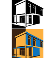 Block house vector image