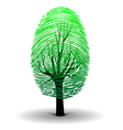 Fingerprint tree vector image