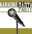 Karaoke party background vector image