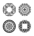 set of ethnic ornamental circles vector image