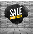 Super sale wall poster Grunge sale background for vector image