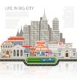 Life In Big City Design vector image