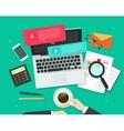 Social media marketing analysing online dialog vector image