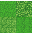 seamless backgrounds with leaves vector image vector image