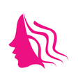 Profile of young woman vector image vector image