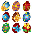 Easter egg set vector image vector image