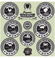 set of icons on the theme farm fresh vector image