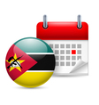 Icon of National Day in Mozambique vector image