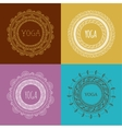 Bohemian Mandala and Yoga background with round vector image vector image