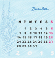 december 2015 flowers vector image vector image