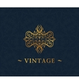 Calligraphic luxury symbol Emblem ornate decor vector image vector image