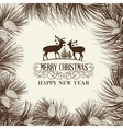 The Christmas frame vector image vector image