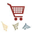 Shopping cart icons for online purchases- vector image