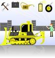 service and diagnostics bulldozer Detalied vector image
