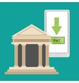 bank building smartphone pay online vector image
