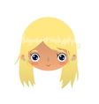 Cartoon blonde girl face vector image
