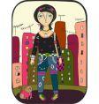 emo in city vector image