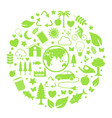 environment icon in circle vector image