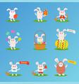 happy easter bunny et vector image