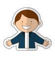 little ethnic boy character vector image