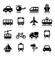 Transport travel icons set isoalted vector image