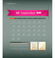 September 2013 Calendar vector image vector image