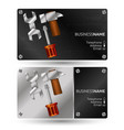 business card for repair with a tool vector image vector image