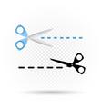 scissors line cut symbol vector image