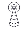 Frequency antennaradio tower line icon vector image