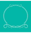 Calligraphic round frame 4 Abstract design element vector image