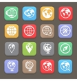 Globe earth flat icon set vector image