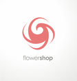 Unique flower logo design template for flower shop vector image vector image