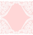lace border on pink background vector image vector image