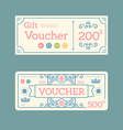 gift voucher coupon template design paper label vector image