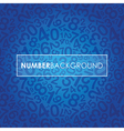 blue number background vector image vector image