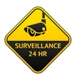 cctv pictogram video surveillance sticker vector image vector image
