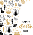 easter angel card vector image