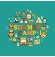 Summer Camp themed vector image